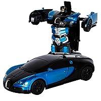Parametri del prodotto:  Prodotto: Automobile di deformazione di induzione di gesto di deformazione di telecomando di deformazione dell'automobile di Bugatti Rambo  Materiale: plastica  Colore: Bugatti blu, Bugatti rosso.  Dimensioni del prodotto...