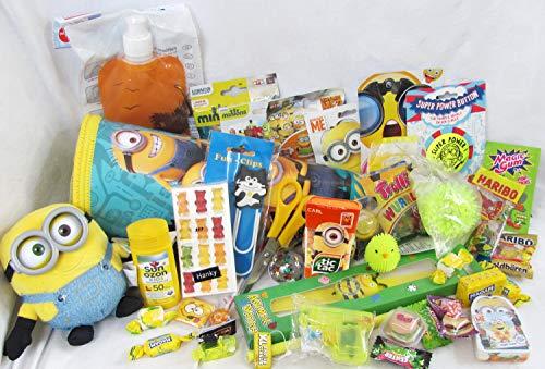101640 große gefüllte Schultüte Minion 50cm Zuckertüte als Geschenk mit Schulbedarf & Spielzeug zum Schulanfang