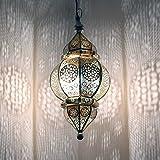 albena shop 71-0195 Kaja orientalische Lampe H 50cm / ø 23cm (silber)