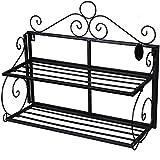 Songmics Estantería metálica multiusos Librería Organizador con 2 estantes LSN02B