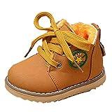 Hunpta Mode Winter niedlichen jungen Mädchen Kind Armee Stil Martin Stiefel warme Schuhe (Alter: 18-24M, Gelb)