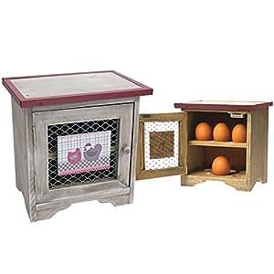boite cave rangement oeufs design vintage en bois pour 12 oeufs cuisine maison. Black Bedroom Furniture Sets. Home Design Ideas