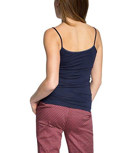 ESPRIT Collection Damen Top mit Elastan Blau (DARK NAVY 420)