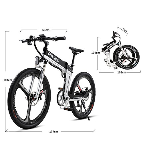 "51p00Mx6N%2BL. SS500  - GTYW Electric Folding Bicycle Mountain Bicycle Adult Bicycle - 26""-90km Life"