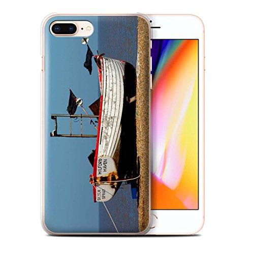 Stuff4 Hülle / Case für Apple iPhone 8 Plus / Rotes Boot Muster / Britischen Küste Kollektion Rostigen Boot