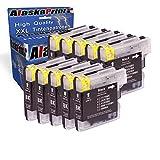 10x Druckerpatrone Kompatibel für Brother LC1100 LC-1100 LC 1100 LC 980 LC980 LC-980XL Schwarz Black bk für DCP6690CW DCP385C DCP145c DCP165C DCP185C DCP195C DCP395CN DCP585CW DCP6690CW MFC6490CW MFC6490cn MFC490CN MFC490CW