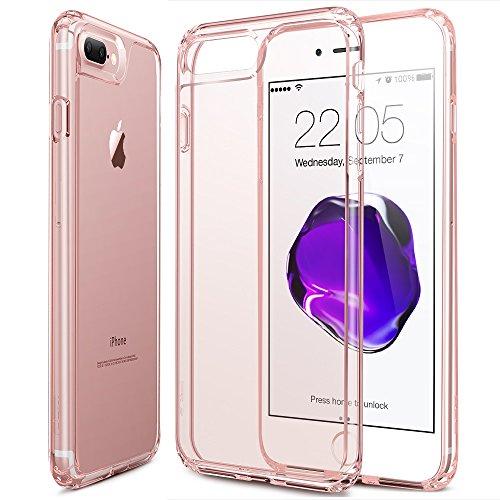 iPhone 7 Plus Hülle (5,5 Zoll), ESR® Weiche TPU Rahmen mit Hart PC Zurück Schutzhülle für iPhone 7 Plus (Schwarz) Rosa