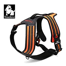 TRUE LOVE Truelove Dog Harness With Handle Soft Padded Pet Harness Vest,Reflective Material,Adventure Training,Strong Oxford Outer Layer for larger dogs TLH5551 (Orange,XS)
