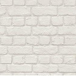 Carta da parati mattone l 39 effetto legno pietra a casa e for Carta da parati adesiva effetto mattone