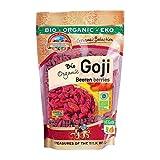 Bacche di Goji Bio essiccate 500 gr Crude, sole secco organico, raw, dall'Uzbekistan. senza zuccheri aggiunti, non solforato