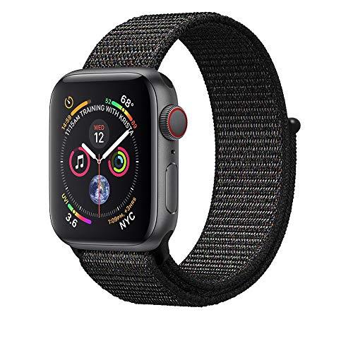 Corki für Apple Watch Armband 38mm 40mm, Weiches Nylon Ersatz Uhrenarmband für iWatch Apple Watch Series 4 (40mm), Series 3/ Series 2/ Series 1 (38mm), Rosa Gewebt Schwarz