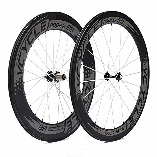 VCYCLE Nopea 700C Rennrad Carbon Laufradsatz in Fahrrad Laufrad Drahtreifen Vorne 60mm hinten 88mm Shimano oder Sram 8/9/10/11 Speed -