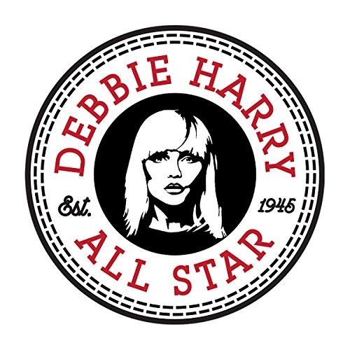 Debbie Harry Converse All Star Icon Men's Baseball Long Sleeved T-Shirt White/Black