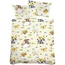 """De franela para niños con diseño de-dimensiones de la funda nórdica: 100 x 135 cm + 40 x 60 cm 100% de algodón de 2 piezas de juego de """"animales"""""""
