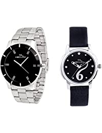 Latest Fashionable Round Dial Watches Combo Of 2 Casual / Formal / Party Wear Watches For Mens And Womens By Meclow