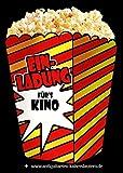 10 Sehr schöne Einladungskarten für Kindergeburtstag fürs Kino - Popcorn