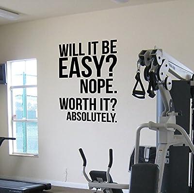 Worth It? Gym Motivational Wandtattoo Wandaufkleber Fitness Kettlebell Gewichtsverlust Diät Spinning Gesundheit und Fitness Crossfit Fitness Boxing, UFC MMA