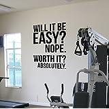 Worth It? Gym Empire mural en vinyle citation perte de poids Kettlebell de la santé et du Fitness Spinning Crossfit entraînement de boxe MMA/UFC originales