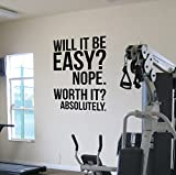 Best Motivational Wall Decals - DesignDivil - Adesivo da parete motivazionale per palestra Review