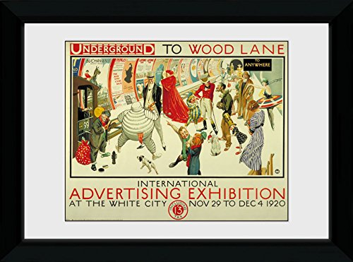 GB Eye Ltd Transport for London, Expo de publicité, encadrée, 50 x 70 cm, Bois, différents, 55 x 75 x 2.9 cm