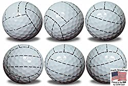 Gbm Golf Volleyball Golf Balls 6 Pack By