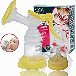 Motherly Manual Breast Pump- Breastfeeding Pump (Yellow) - Fits All Breast Sizes