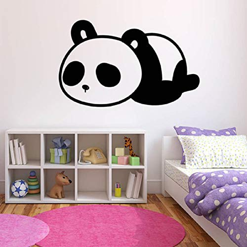 Hnxdp sleeping panda wall sticker nursery decor pvc rimovibile tatuaggio animale carta da parati camera dei bambini cartoon art decals gruppo 22 nero 85x57cm