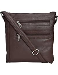 Tan Ritcher Leatherette Made Sling Bag For Women's-Brown