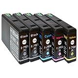5 XXL Patronen für T7901 T7902 T7903 T7904 XL kompatibel für Workforce Pro WF 4640DTWF mit CHIP
