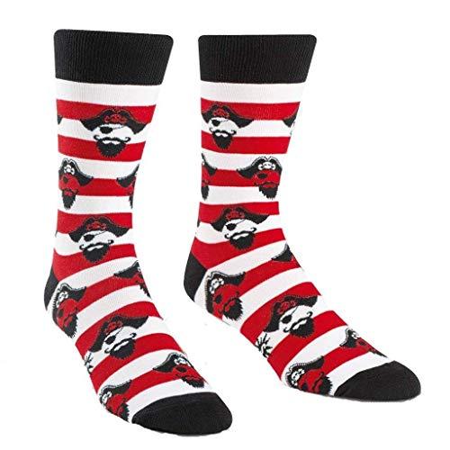 Sock It To Me - Herren Socken Argh ye Stripey - lustige Herren Socken mit Pirat Streifen Seemann Gr.42-47 One Size