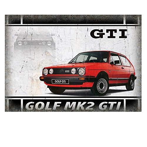 Ellis Golf GTI Metallschild Retro Blech für Store Man Cave Bar Home Dekoration Garage