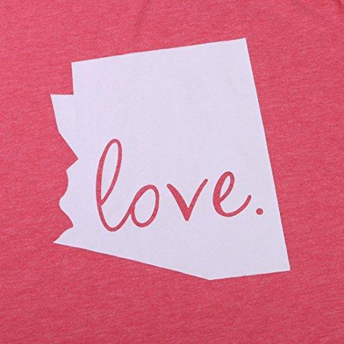 Smileq Mode Casual Top T-shirt Saint-Valentin Cadeau Lettre d'amour Imprimé à manches courtes pour femme Red