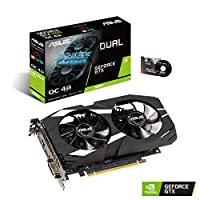 ‏‪ASUS GeForce GTX 1650 Overclocked 4GB Dual-Fan Edition VR Ready HDMI DP 1.4 DVI Graphics Card (Dual-GTX1650-O4G)‬‏