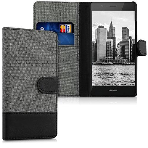 kwmobile Huawei P9 Lite Hülle - Kunstleder Wallet Case für Huawei P9 Lite mit Kartenfächern & Stand