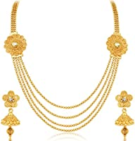 Sukkhi Marvellous Jalebi 4 String Gold Plated Necklace Set For Women