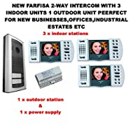 NEW FARFISA 2-WAY INTERCOM WITH 3 INDOOR UNITS 1 OUTDOOR UNIT PEERFECT FOR NEW BUSINESSES,OFFICES,INDUSTRIAL ESTATES ETC