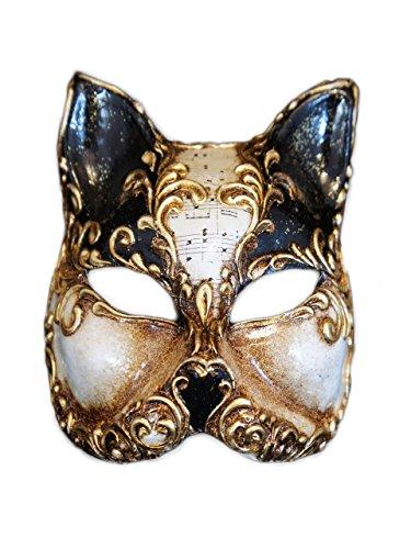 ace Cat Maske Gatto Arabesque für Frauen (schwarz) (Halloween Maske Sammlung)