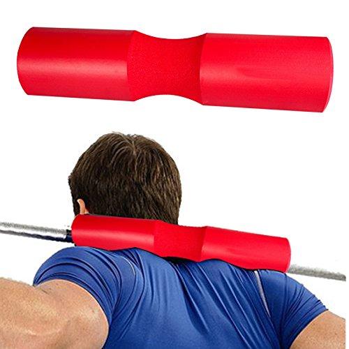 Squat Bar Pad, KIROLAK Barbell Kissen Nacken und Schulter Schutz Pad Unterstützung Übung Barbell Pad für Hip Thrusts, Squats und Ausfallschritte, Gewichtheben - Rot