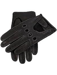 Dents Winchester Men's Handsewn Deerskin Leather Driving Gloves Black