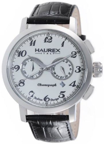Haurex Italy 9A343UC1 Maestro Chronograph White Dial Mens Watch