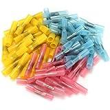 25 Pcs Cosses éléctriques Prolongateur Gaines Thermorétractables Soudure Isolées rouge 0.5-1.0mm