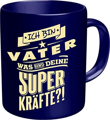 Original RAHMENLOS® Kaffeebecher für den Papa: Ich bin Vater, was sind Deine Superkräfte? Im Geschenkkarton 2621