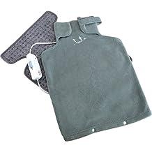 JATA CTLC- Almohadilla eléctrica cervical espaldera (56 x 39 cm, mando regulador con 3 niveles de calor, funda textil extraíble y lavable)