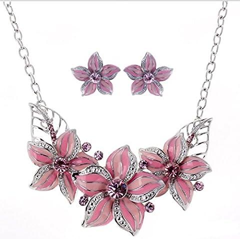 Ensemble de bijoux en alliage , pink