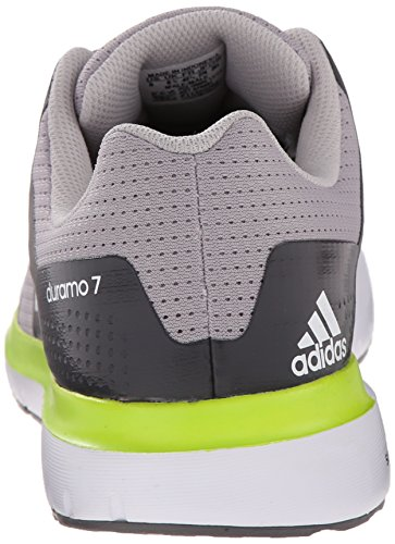 Adidas Performance Duramo 7 M scarpa da running, nero / argento / grigio, 6,5 M Us Clear Granite Grey/White/Semi Solar Slime