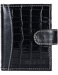 Hide&Sleek Soft Black Hippo Designed Artificial Leather Card Holder