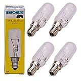 Qualtex E1440W SES Dunstabzugshaube Licht Lampe Birne Röhrenform Leuchtmittel 4er-Packung farblos