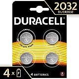Duracell 2032 - Pila de botón de litio 3V, diseñada para dispositivos electrónicos,  4  unidades, cr 2032 3v