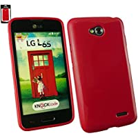 Emartbuy® LG L65 Glänzend Gel Hülle Schutzhülle Case Cover Rot