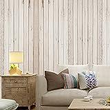 Wopeite Sticker Mural Auto-Adhésif Panneau Bois de Planches en Bois Domicile Décoration Chambre 45 X 1000CM
